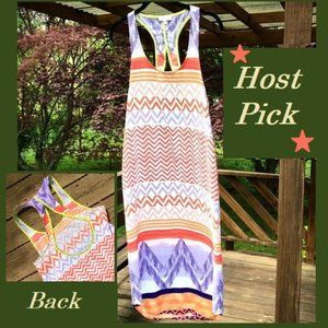 *HP* Colorful Sleeveless, low back design dress